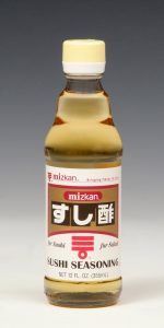 Sushi SeasoningAvailable in 12 and 24 oz. bottles.Sushi Seasoning is a mixture of vinegar, sweetener and salt. Great for making sushi rice, salad dressings or marinades.